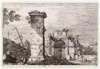 landschaft mit antiken monumenten by canaletto