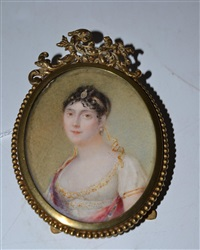 portrait miniature of empress josephine by jean antoine laurent