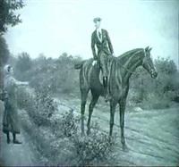 en ung mand til hest sporger en ung pige om vej by karl müller