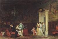 scène de cour by edoardo gelli