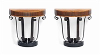 demi-lune console tables (pair) by charles cameron baillie