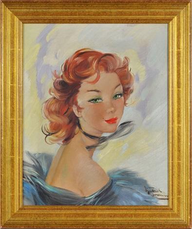 Portrait De La Baronne Nadine De Rothschild By Jean Gabriel Domergue On Artnet