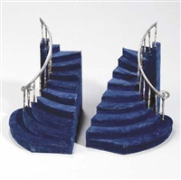 staircase bookends by charles ledray