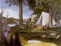 prospectors at the campfire by american school-california (19)