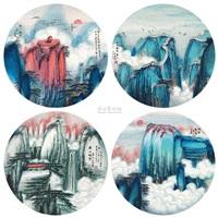 春秋冬夏四景 (landscape) (4 works) by ji ren