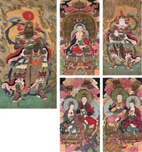 seven buddha (set of 5 scrolls) by chinese school (17)