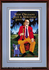 pete fountain: new orleans jazz and heritage festival by george rodrigue