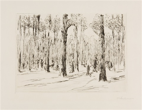 tiergarten by max liebermann