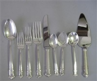 flatware service in english shell pattern (set of 63) by lunt (co.)