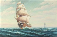 clipper ship, westward ho by h.h. howe