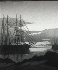 quiet anchorage by ernest w. watson