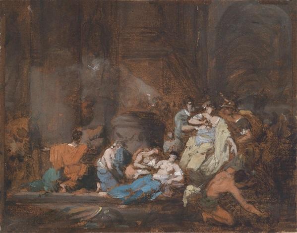 coresus und callirhoe nach pausanias by jean honoré fragonard