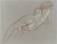 liegender weiblicher rückenakt by ludwig (hofmann-zeitz) hofmann