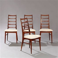 lis dining chairs (set of 4) by niels koefoed