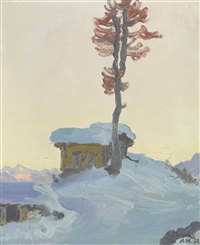 alp bütz in der wintersonne by albert nyfeler