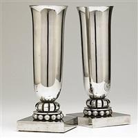 vases (pair) by edgar brandt and georges bastard