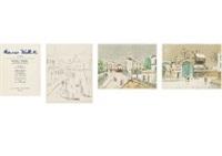 maurice utrillo v (portfolio of 12 works) by maurice utrillo