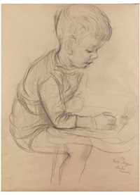 martin drawing by george grosz