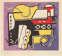 composition abstraite (after einer gouche) by fernand léger