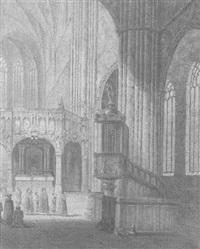 aerschot cathedral, belgium by alfred bentley