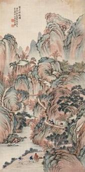 蜀山行旅图 by bai zongwei