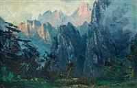 黄山始信峰 by jiang xuanyi