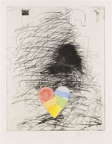 a girl and her dog ii by jim dine
