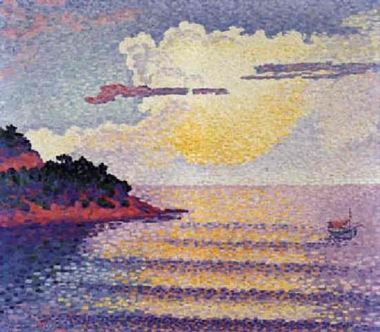 Coucher De Soleil Sur La Mer By Henri Edmond Cross On Artnet
