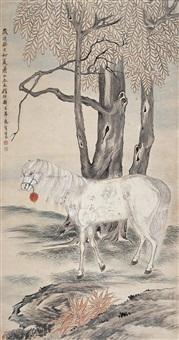 白马 (horse) by ren yu