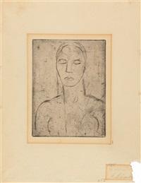 urmensch (brustbild) by wilhelm lehmbruck