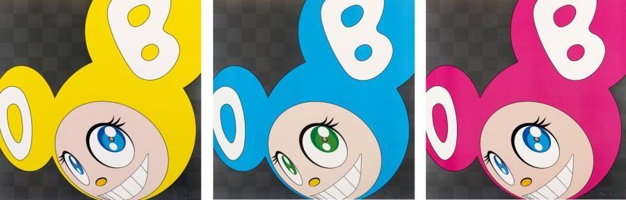 and then and then and then and then and then set of 3 by takashi murakami