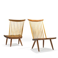 new lounge chairs (pair) by mira nakashima-yarnall