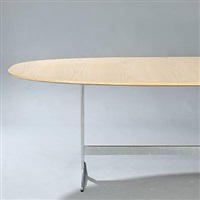 superellipse dining/conference table (model d614) by piet hein and arne jacobsen
