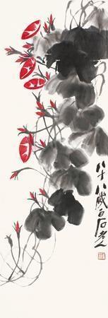 牵牛花 by qi baishi