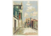town at the early summer by maurice utrillo