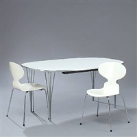 dining room suite by piet hein and arne jacobsen