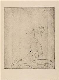 liegender mann, stehende frau, skizze by wilhelm lehmbruck