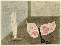 die seidenmotte und die stolze rosamunde, pl.5 (from parapapillonneries) by meret oppenheim