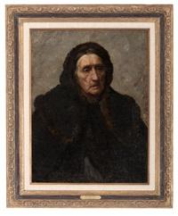 beggar woman, munich by john ottis adams