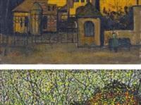 street view ii (1); street view ix (2) (2 works) by xie lei