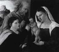 die mystische vermählung der heiligen katharina by lorenzo leonbruno