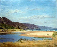 view across the lagoon to the sea by archibald douglas colquhoun