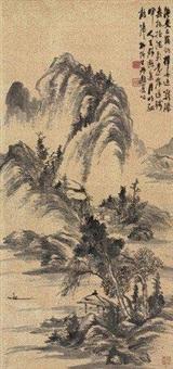 溪山归棹 by liu bin
