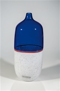 vase ''incalmo'' by lino tagliapietra and maria grazia angelin