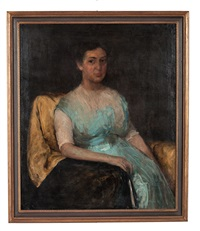 portrait of mrs. frank b. wynn by wayman adams