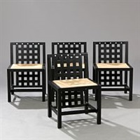candida cottage chairs (set of 4) by charles rennie mackintosh