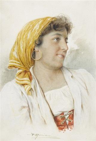 portrait dune danseuse de tarantella à sorrento by agusto moriani