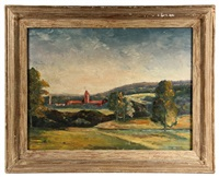 italian valley town, summer by max weber