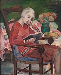 läsande flicka by siri rathsman