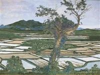 rizières thaï by francois marie léon de marliave